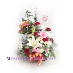 01920n Basket of Mixed Flowers