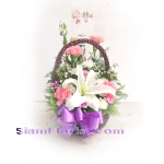 01906 Basket of Mixed Flowers