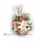 01855n Basket of Mixed Flowers
