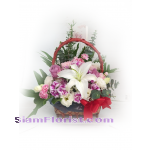 01856n Basket of Mixed Flowers