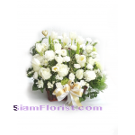 2528  Basket  of Tulips and carnations  more detail click