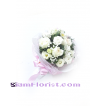 RR1169. Bouquet of white mixed flowers..click for detail
