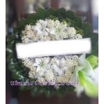 01968w Sympathy Flowers Wreath