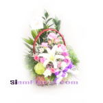 01943n Basket of Mixed Flowers