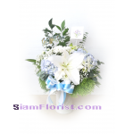 01838HG Vase of Mixed flowers  Hydrangeas