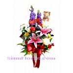 AR2421   Vase of Artificial Flowers  more detail click