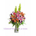 AR2422   Vase of Artificial Flowers  more detail click
