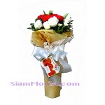 1004  Bouquet of Carnations mixed flowers Click for detail