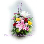 2098   Basket of Mixed Fresh Flowers
