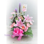 2101   Basket of Mixed Fresh Flowers