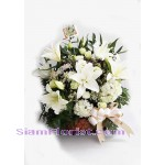 2487 Basket of  Mixed Flowers more detail click