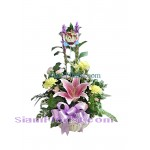 1025 Basket of Mixed Flower start US$40 Click for detail