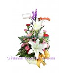 1026 Basket of Mixed Flowers  Click for detail