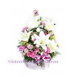 2480 Basket of  Mixed Flowers  click for detail