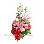 1027  Basket of Mixed Flowers