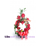 2499 Basket of Lilies and  Roses  start US$78
