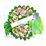 W2386  Sympathy Flowers Wreath