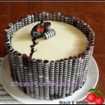 4098 Black and White Cake