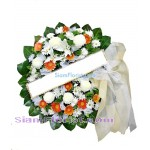 W2387  Sympathy Flowers Wreath