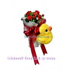 2417 bouquet  of  Roses with Duck