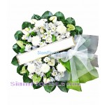 W2380  Sympathy Flowers Wreath