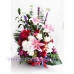BA2491   Basket of Mixed Flowers more detail click