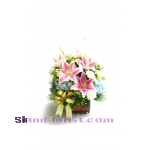 HG1081 Basket  of Mixed Flowers