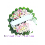 W1067  Sympathy Flowers Wreath