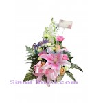 1028 Basket of Mixed Flowers  Click for detail