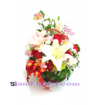 1085 Basket of Mixed Flowers