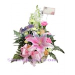 1028 Basket of Mixed Flowers