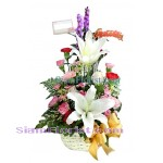 1026  Basket of Mixed Flowers