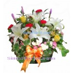 1018 Basket of Mixed Flowers