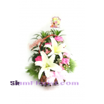 1107 Basket of Flowers. more detail click
