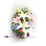 HG1108 Basket  of Mixed Flowers