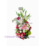 1029 Basket of Mixed Flowers  Click for detail