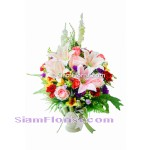 AR2432 Artificial  Flowers Arrangement  more detail click