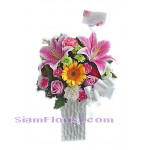 2204  Vase of Mixed Flowers  start US$60