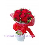 2286  Bouquet of roses and carmantions Down Town start US$38.00