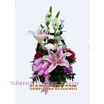 2304  Basket of Mixed Flowers start US$50 click for detail