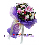 2364  Bouquet of Bouquet Flowers and Ferrero