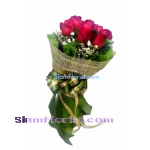 2406V Bouquet of Roses  Click for detail