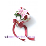 1058V Bouquet of lily carnations  Click for detail