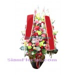 AR2423   Vase of Artificial Flowers  more detail click