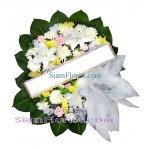 W2415  Sympathy Flowers Wreath