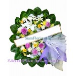 W2413  Sympathy Flowers Wreath