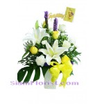 2238  Vase of Mixed Flowers  start US$60