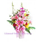 2240   Vase of Artificial Flowers  start US$100