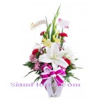 2237  Vase of Mixed Flowers  start US$60