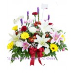 2235  Basket of Mixed Fresh Flowers  start US$80